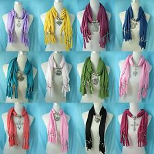 *US SELLER* lot of 5 Jewelry Charm Scarf Wholesale pendant necklace scarf