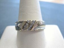 Gorgeous Real Solid 10k Yellow Gold 8 Diamond Wedding Band Ring size 10 men's