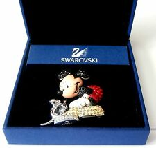 """Signed Swarovski Brooch Pin Mickey Mouse """"It Started With A Mouse"""" Box COA"""