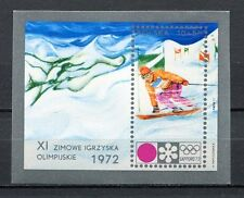 36086) POLAND 1972 MNH** Olympic Games, Sapporo S/S