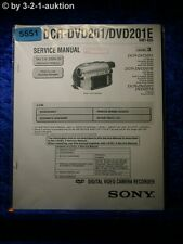 Sony Service Manual DCR DVD201 /DVD201E Digital Video Camera (#5551)