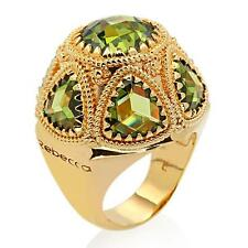 New Rebecca 10.51ctw Hydro Peridot Domed Vibrance Ring ~ Size 6