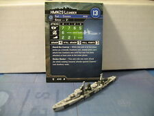 Axis and Allies War at Sea Flank Speed HMNZS Leander 4/40
