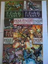 MARVEL COMICS FEAR ITSELF THE FEARLESS ISSUES # 1 3 9 11 OF 12 + BOOK 5 6 7