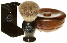 EXECUTIVE Rasatura Company EBANO sapone da barba e super Badger Hair Brush Set