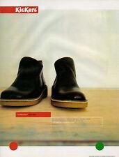 Publicité 1999  KICKERS chaussures botte collection mode pret à porter