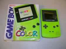 LIME GREEN GAME BOY COLOR SYSTEM (Nintendo GBC) KIWI Boxed