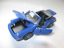 PORSCHE 911 (964) Carrera Cabriolet Cabrio 2/4 in BLU BLEU BLUE, NZG in 1:43!
