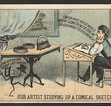 Mrs Potts Sad Iron Artist comic Burditt & Williams Boston Advertising Trade Card
