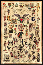 "Sailor Jerry Tattoo Flash Poster (Version. 3) - (24""x36"") - Free S/H"