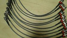US MADE  10 pcs   BNC Male to MINI BNC Male  DS3/735 coax cable  1 Foot (75 ohm)