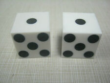 White dice with black dice dots and high quality dice