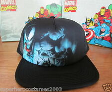 The Amazing Spider-Man Adjustable Venom Trucker Hat Marvel Comics NWT - Black