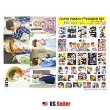 KPOP BTS A3 Official Photo Poster + Sticker Set Various 12 Sheets Bromide -1