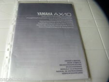 Yamaha AX-10  Owner's Manual  Operating Instructions Istruzioni New