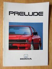 HONDA PRELUDE orig 1987 UK Mkt Sales Brochure - 1.8 EX 2.0i-16