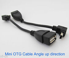 1pc UP Angle 90D Host OTG Adapter Cable Mini 5pin USB male to USB 2.0 Female