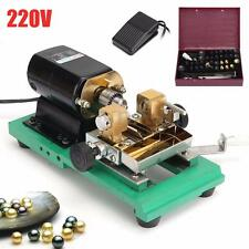 220V Pearl Beads Drilling Holing Machine Driller Wood Jewelry Craft Punch Tool