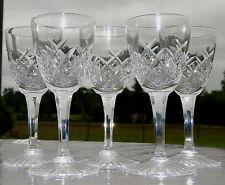 Cristallerie de Lorraine Lemberg - Lot de 5 verres en cristal taillé. H.13,5 cm