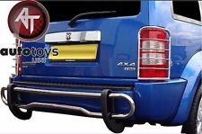 2008-2012 DODGE NITRO STAINLESS STEEL DOUBLE TUBE REAR BUMPER PROTECTOR GUARD