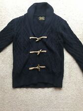 All Saints Navy Chunky Cable Knit Cardigan Size Small
