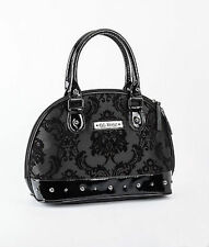Gg Rose Rock Rebel Mini Madame Midnight Blk Floral Gothic Studded Handbag Purse