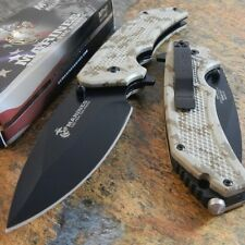USMC Marines Spring Assisted Opening Digital CAMO Tactical Rescue Pocket Knife