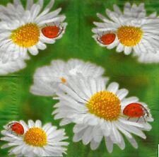 2 serviettes en papier Coccinelle Marguerite - Paper Napkins ladybird