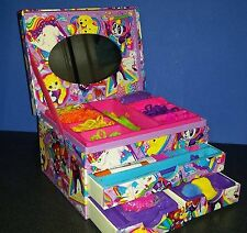 Vintage Lisa Frank organizer stationary Crafts Box