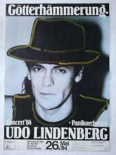 UDO LINDENBERG     1984     FRANKFURT     orig. Concert -  Poster   84 x 60 cm