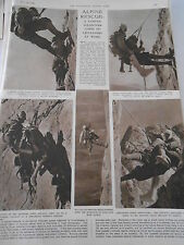 Alpine rescue A famous Volunter corps of life savers at work 1946 Print Article