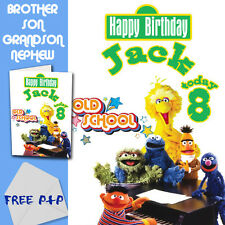 SESAME STREET - PERSONALISED Birthday Card Son Brother Nephew Grandson