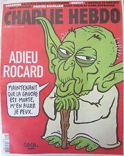 CHARLIE HEBDO No 1250 de JUILLET 2016 ADIEU ROCARD MORT DE LA GAUCHE MAITRE YODA
