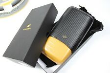 COHIBA Embossed Cowhide Leather 3 Tube Wooden Cigar Holder Travel Case Gift Box