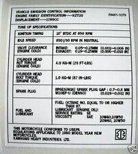 """KAWASAKI Z1300 KZ1300 Calcomanía Etiqueta de advertencia de emisiones"""""""""""