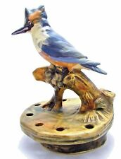 """WELLER MUSKOTA POTTERY MARKED 6 1/2"""" KINGFISHER 7 HOLE FLOWER FROG CIRCA 1920s"""