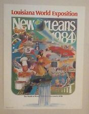 1984 World's Fair Poster New Orleans World Exposition