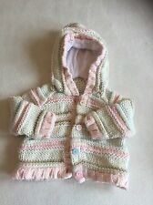 Baby Girls Clothes 3-6 Months - Cute Knitted Hoodie Jacket - We Combine Postage