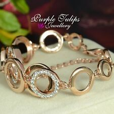 Fashion Circles SWAROVSKI ELEMENTS crystals Bracelet,18CT Rose Gold Plated