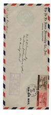1943 Wwii Philippine 1st Day Issue Airmail Cover with Japanese Overprint