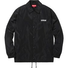 SUPREME x Overfiend Touch Coaches Jacket Black M box logo camp cap F/W 15