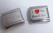 I LOVE MY MUM & DAD 9mm Italian Charm + 1x Genuine Nomination Classic RED HEART