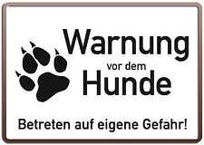 WARNUNG VOR DEM HUNDE - 20x30 cm Blechschild Schild Warnschild 23111
