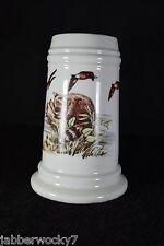 Gerold Porzellan German Stein - Raccoon & Ducks with Naked Lady Lithophane