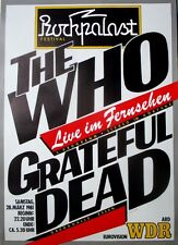 ROCKPALAST - 1981 - Konzertplakat - Grateful Dead - The Who - Poster