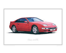 "Nissan 300ZX - Limited Edition Print (of 50) 20""x16"" by Steve Dunn"