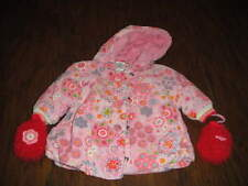 BOUTIQUE CAKEWALK 56 3M 3 MONTHS FLORAL COAT AND MITTENS