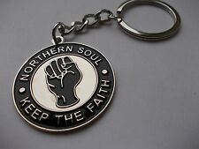 LARGE NORTHER SOUL KEEPING THE FAITH FIST MUSIC  High Quality Metal Keyring gift