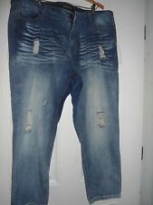 PLUS SIZE FASHIONABLE MUTILATED JEANS BY FOREVER 21: SIZE 18