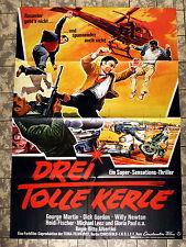 DREI TOLLE KERLE / TRE SUPERMEN A TOKIO- A1-Filmposter -Ger 1-Sheet 1968 EUROSPY